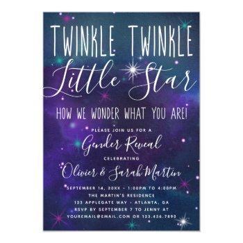 Twinkle Little Star Gender Reveal Invitation