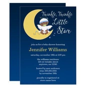 Twinkle Little Star Moon Ethnic Baby Shower Invitation