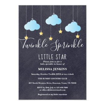 Twinkle Sprinkle Baby Sprinkle / Shower Chalkboard Invitation
