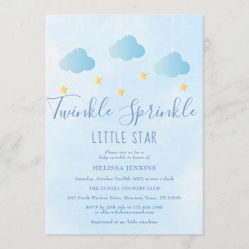 Twinkle Sprinkle Little Star Boy Blue Baby Shower