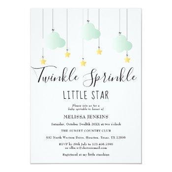 Twinkle Sprinkle Little Star Neutral Baby Shower Invitation