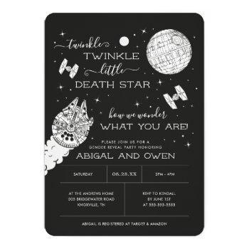 Twinkle Twinkle Little Death Star   Gender Reveal Invitation