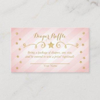 Twinkle Twinkle Little Star Diaper Raffle Card
