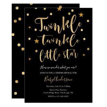 Twinkle Twinkle Little Star Gender Reveal Invitation