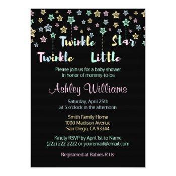 Twinkle Twinkle Little Star Gender Reveal Neutral Invitation