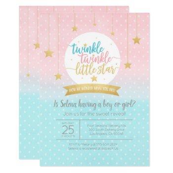 Twinkle Twinkle Little Star Gender Reveal Shower Invitation