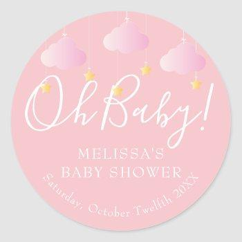 Twinkle Twinkle Little Star Oh Baby Baby Shower Classic Round Sticker