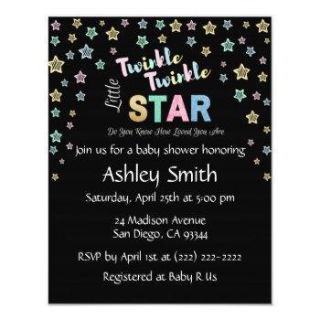 Twinkle Twinkle Little Star - Personalized Invites