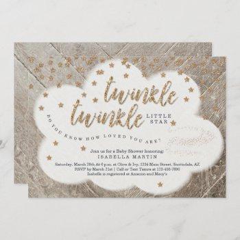 Twinkle Twinkle Little Star Unisex Baby Shower Invitation