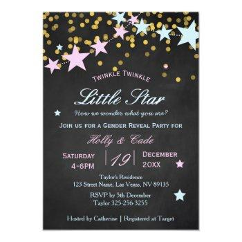 Twinkle Twinkle What You Are Gender Reveal Invitation
