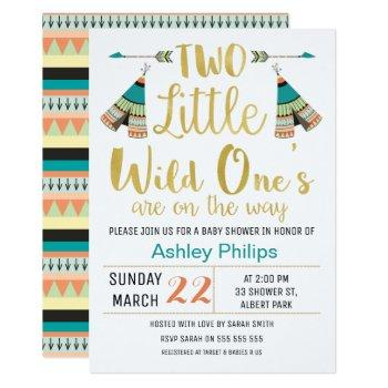 Twinstribal Little One Faux Baby Shower Invitation