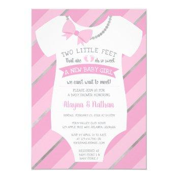 Two Little Feet Baby Shower Invitation