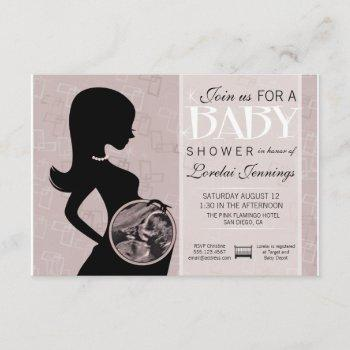 Ultrasound Picture Baby Shower Invitation