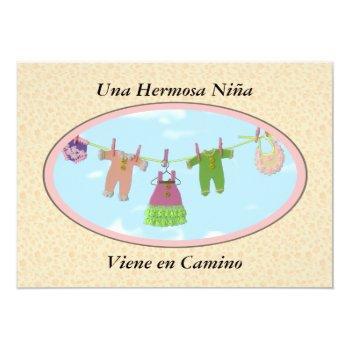 Una Hermosa Niña Viene En Camino / Baby Shower Invitation