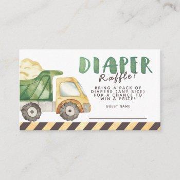 Under Construction Diaper Raffle Enclosure Card