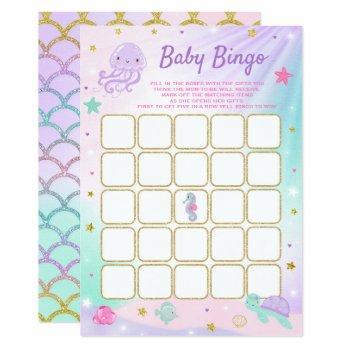 Under The Sea Baby Shower Bingo Card Game