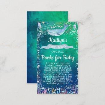 Under The Sea Baby Shower Book Request Enclosure Card