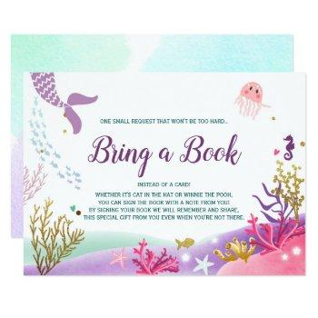 Under The Sea Mermaid Baby Shower Bring A Book Invitation