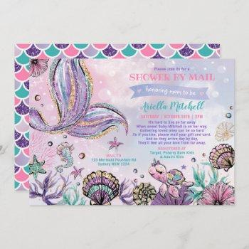 Under The Sea Mermaid Baby Shower By Mail Invitation