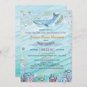 Under The Sea | Ocean Themed Baby Shower Invitation