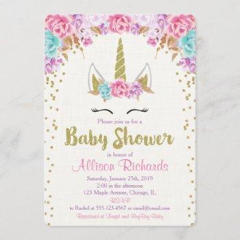 Unicorn Baby Shower  Pink And Gold