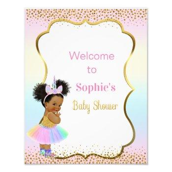 Unicorn Baby Shower Welcome Sign