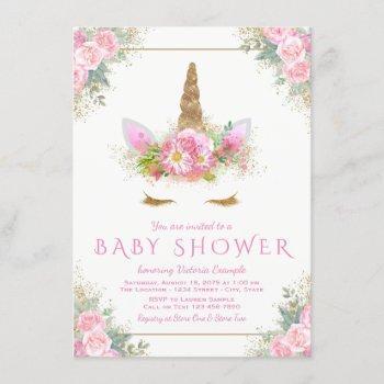 Unicorn Face Unicorn Baby Shower