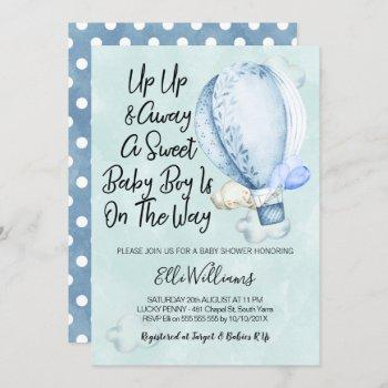Up Up And Away Elephant Baby Shower