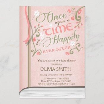 Upon A Time Storybook Baby Shower  Pink