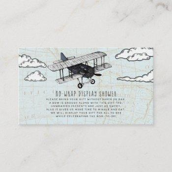 Vintage Airplane Display Shower Invitation Insert