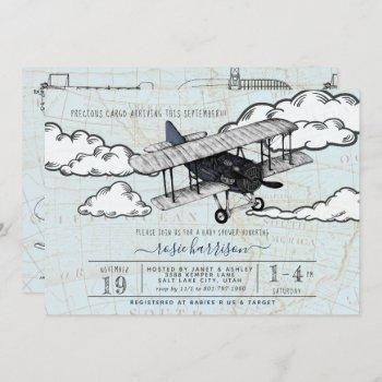 Vintage Airplane   Travel Baby Shower