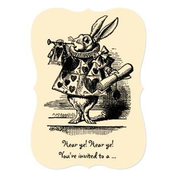 Vintage Alice In Wonderland Baby Shower Party Invitation