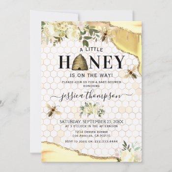 Vintage Bee Baby Shower Invitation