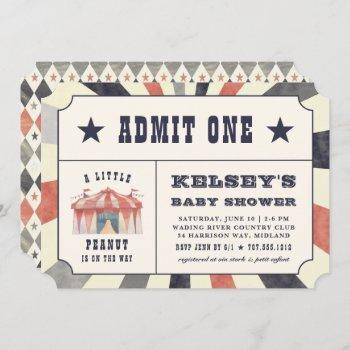 Vintage Circus Ticket Baby Shower