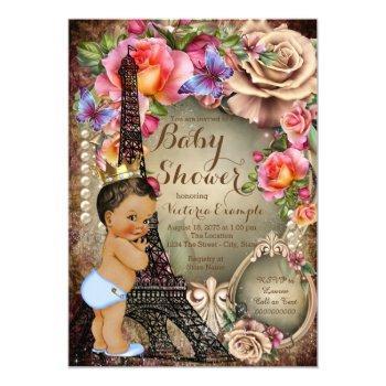 Vintage Ethnic Prince Paris Baby Shower Invitation