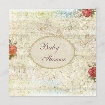Vintage Pearls & Lace Shabby Chic Baby Shower