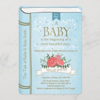Vintage Storybook Baby Shower  Boy Blue