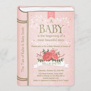 Vintage Storybook Baby Shower  Pink Gold