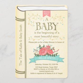Vintage Storybook Baby Shower  Yellow