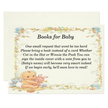 Vintage Style Baby Shower Books For Baby Card