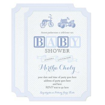 Vintage Toys Juguetes Baby Shower Cards In Spanish