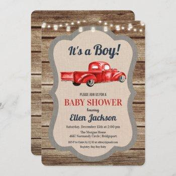 Vintage Truck Boy Baby Shower