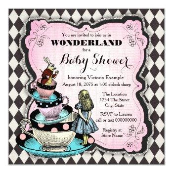 Vintage Wonderland Baby Shower Invitation