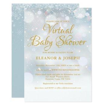 Virtual Winter Baby Shower Sprinkle Invitation