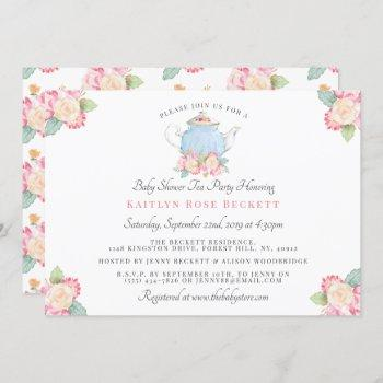 Watercolor Floral Tea Party   Baby Shower