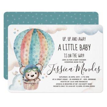 Watercolor Gender Neutral Teddy Bear Baby Shower Invitation