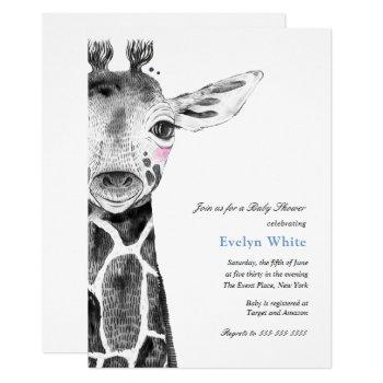 Watercolor Giraffe | Baby Shower Invitation