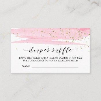 Watercolor Pink Diaper Raffle  Insert