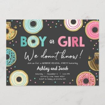 We Donut Know Boy Or Girl Gender Reveal Party Coed Invitation