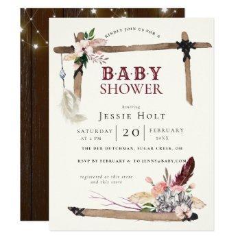 Western Boho Style2 Baby Shower Invitation
